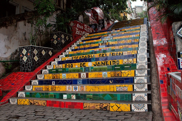 The Great Madness Stairs in Rio de Janeiro