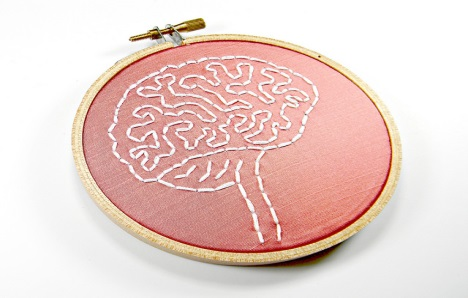 Brain Embroidered