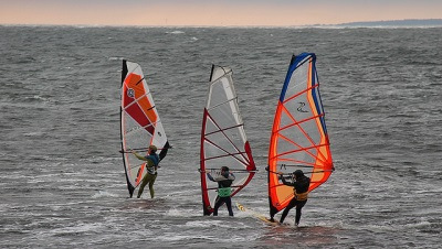 Wind Surfing on the Sea
